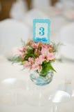 Wedding decor flowers Stock Photography