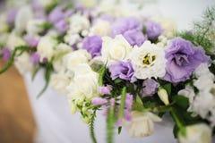 Wedding decor flowers Stock Images