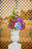 Wedding decor. Flowers in a vase Royalty Free Stock Photography