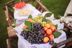 Wedding decor fruits Royalty Free Stock Image