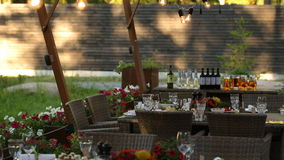 Wedding decor interior stock video
