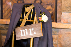 Wedding Decor Mr and Mrs Sign Royalty Free Stock Image