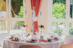 Wedding decor outdoor indoor Royalty Free Stock Images