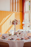 Wedding decor outdoor indoor. Table Stock Photography