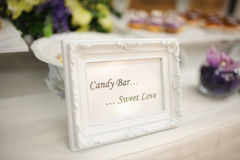 Wedding decor sweet love Royalty Free Stock Photography