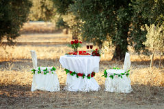 Wedding decor Royalty Free Stock Photos