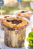 Wedding decor table food pie Royalty Free Stock Photography