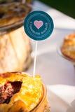 Wedding decor table food pie Royalty Free Stock Photos