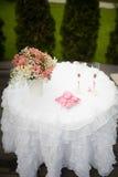 Wedding decor table Stock Photography