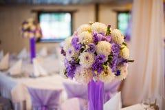 Wedding decor table set up Stock Photo
