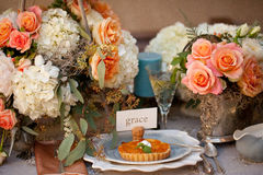 Free Wedding Decor Table Setting And Flowers Stock Images - 28892814