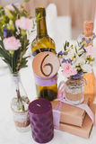 Wedding decor table. Setting and flowers Stock Image