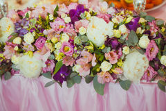 Wedding decor table Royalty Free Stock Photo