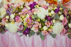 Wedding decor table Royalty Free Stock Photo
