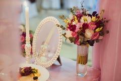 Wedding decor table Royalty Free Stock Photography