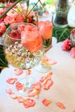 Wedding decor table setting and flowers. Shallow DOF Royalty Free Stock Photography
