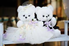 Wedding decor tedy bears Royalty Free Stock Photography