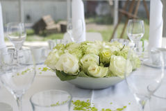 Wedding decoration. Table decoration for wedding party Royalty Free Stock Photography