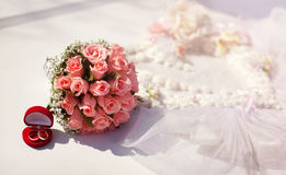 Wedding decoration. In pink colors Royalty Free Stock Photo