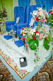 Wedding Decoration. For the couple's seating Royalty Free Stock Image