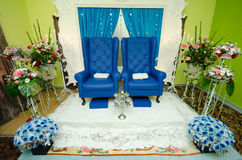 Wedding Decoration. For the couple's seating Stock Photo