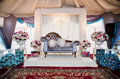 Wedding Decoration. For the couple's seating Stock Image