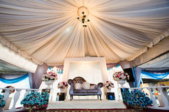 Wedding Decoration. For the couple's seating Stock Photography