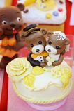 Wedding decoration. The Wedding decoration with teddy bear couple Stock Images