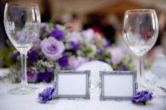Wedding decoration. A table decoration for a wedding Royalty Free Stock Images