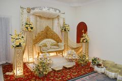 Wedding decoration. A beautiful decoration in a Malay wedding Stock Photos
