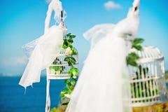 Wedding decoration. Beautiful decoration on great wedding day Stock Photo