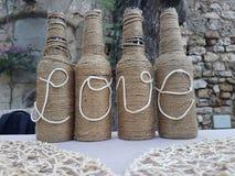 Love bottles decoration Stock Image