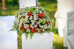 Wedding decoration bouquet of flowers Stock Images