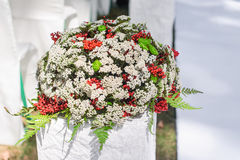 Wedding decoration bouquet of flowers Royalty Free Stock Photos
