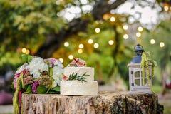 Wedding decoration with cake