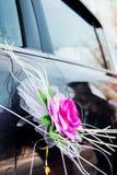 Wedding decoration on car Stock Photo