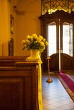 Wedding decoration church Royalty Free Stock Images