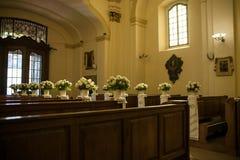 Wedding decoration church Stock Photo