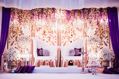 Wedding Decoration. For the couple's seating Royalty Free Stock Photo