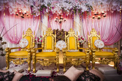 Wedding Decoration. For the couple's seating Royalty Free Stock Photography