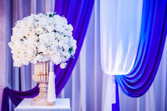 Wedding Decoration. For the couple's seating stage Royalty Free Stock Photo