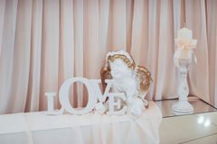 Wedding decoration details. Best day in my life royalty free stock image