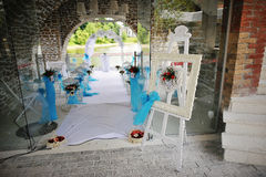Wedding decoration easel Stock Image