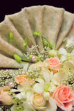 Wedding decoration flower. Wedding flower in a close-up look Stock Images