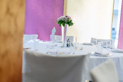 Wedding decoration with flowers Stock Photography