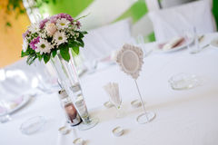 Wedding decoration with flowers Royalty Free Stock Photo