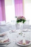 Wedding decoration with flowers Stock Photos