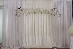 Wedding decoration flowers wall Stock Photography