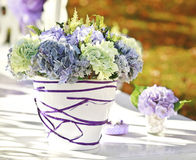 Wedding decoration in garden. Stock Photo