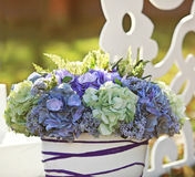 Wedding decoration in garden. Royalty Free Stock Photos